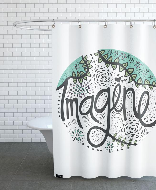 Imagine As Shower Curtain By Pom Graphic Design