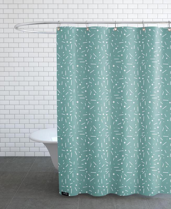 abstrakt t rkis als duschvorhang von mareike b hmer juniqe. Black Bedroom Furniture Sets. Home Design Ideas
