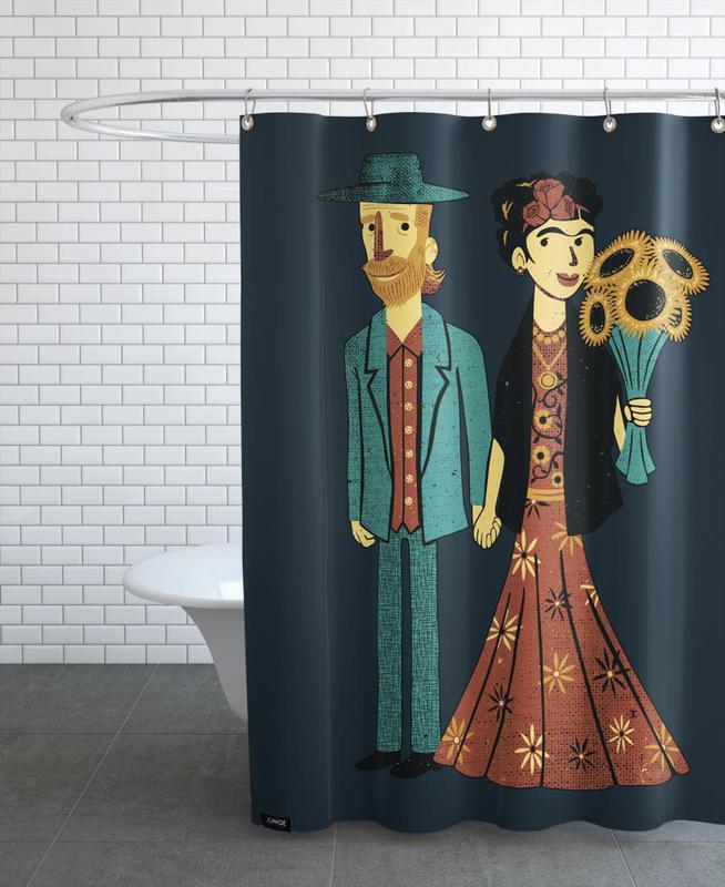 Love Is Art Frida Kahlo And Van Gogh Shower Curtain