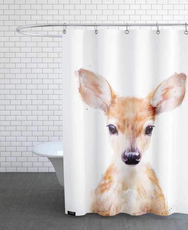little deer als duschvorhang von amy hamilton juniqe ch. Black Bedroom Furniture Sets. Home Design Ideas
