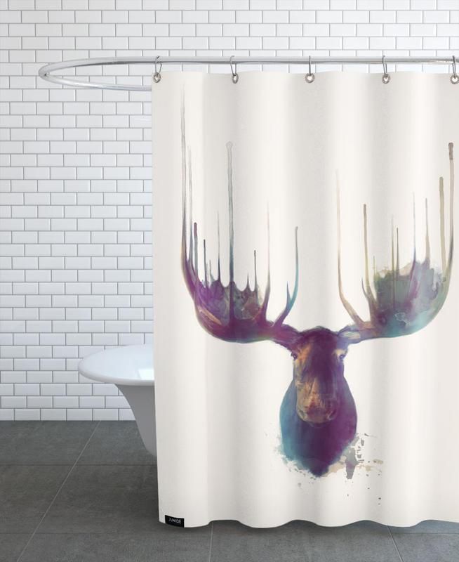 Moose As Shower Curtain By Amy Hamilton | JUNIQE
