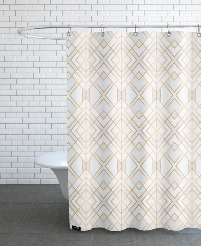 golden geo als duschvorhang von elisabeth fredriksson juniqe. Black Bedroom Furniture Sets. Home Design Ideas