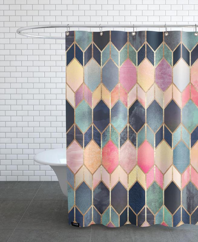 Stained Glass as Shower Curtain by Elisabeth Fredriksson | JUNIQE