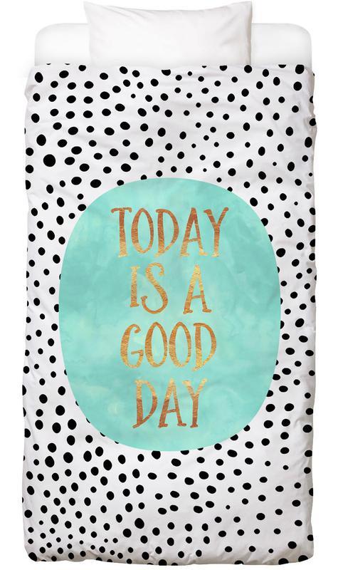 today is a good day en linge de lit par elisabeth fredriksson juniqe. Black Bedroom Furniture Sets. Home Design Ideas