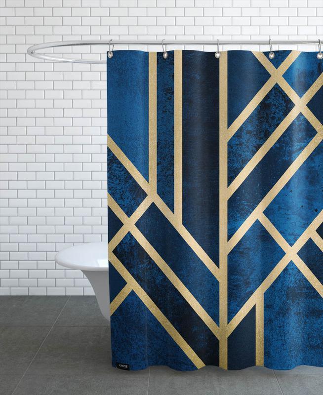 art deco midnight en rideau de douche juniqe. Black Bedroom Furniture Sets. Home Design Ideas