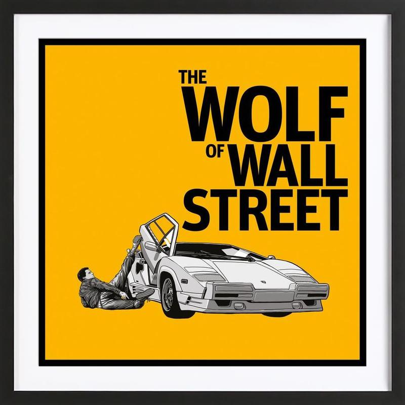The Wolf of Wall Street as Poster in Wooden Frame | JUNIQE