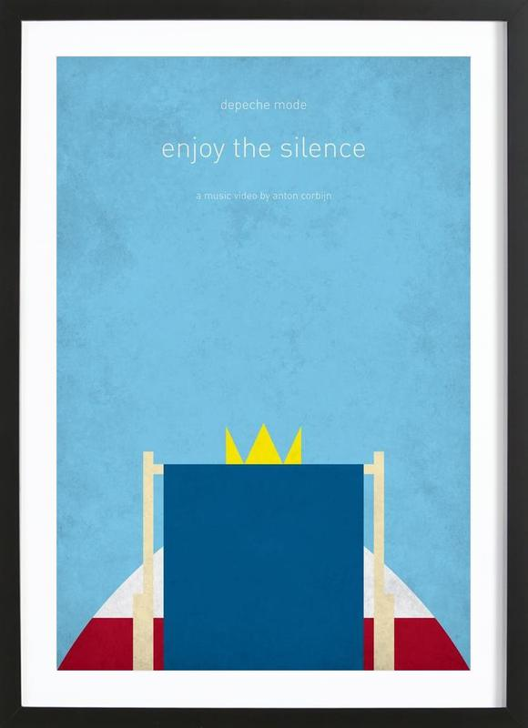 Enjoy The Silence As Poster In Wooden Frame | JUNIQE UK