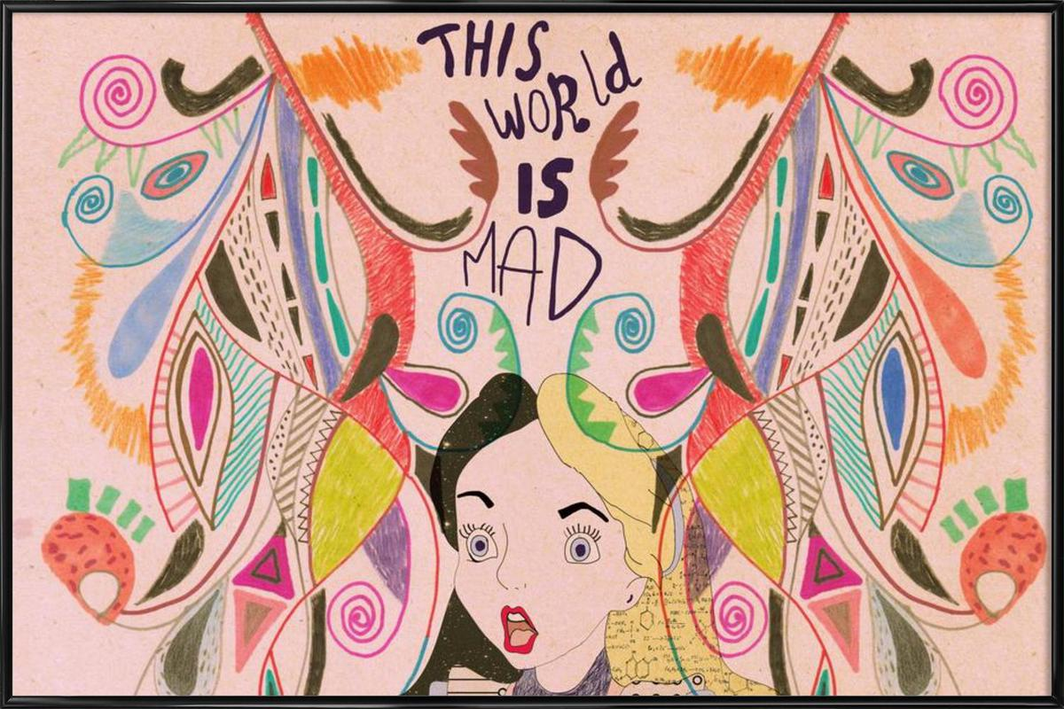 Alice in Wonderland as Poster in Standard Frame by Vasare Nar | JUNIQE