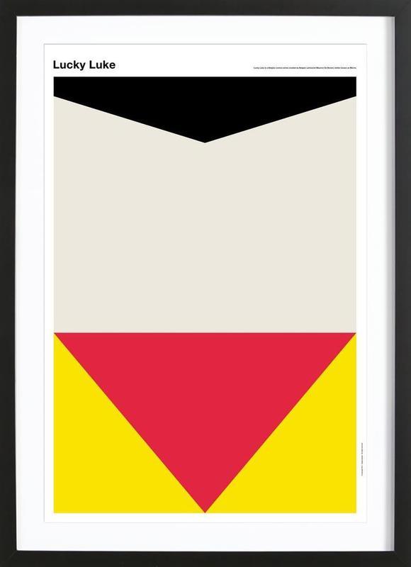 Lucky Luke As Poster In Wooden Frame By Tobias Svenl 246 V