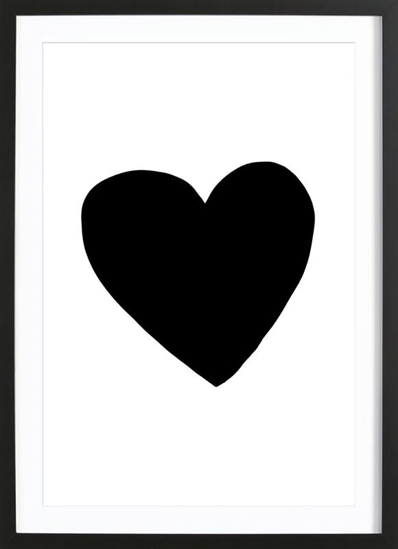 Big Heart as Poster in Wooden Frame by Leah Flores | JUNIQE