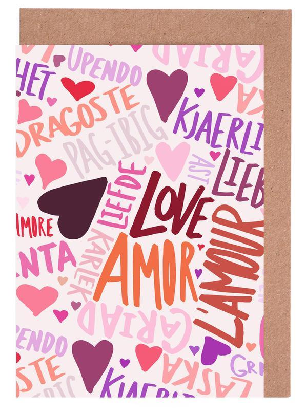 Love languages as greeting card set by leah flores juniqe m4hsunfo