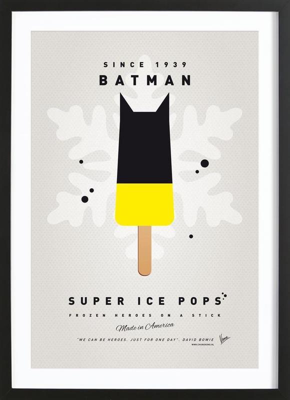 My Superhero Ice Pop - Batman as Poster in Wooden Frame   JUNIQE UK