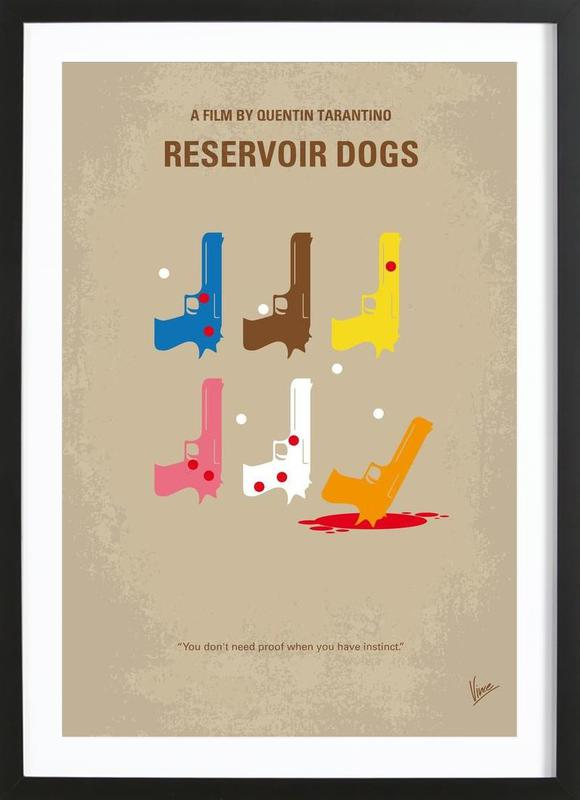 Reservoir Dogs as Poster in Wooden Frame by Chungkong   JUNIQE