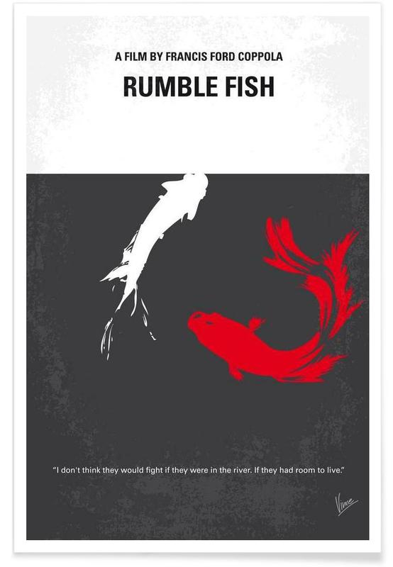 Rumble fish as premium poster by chungkong juniqe for Rumble fish book