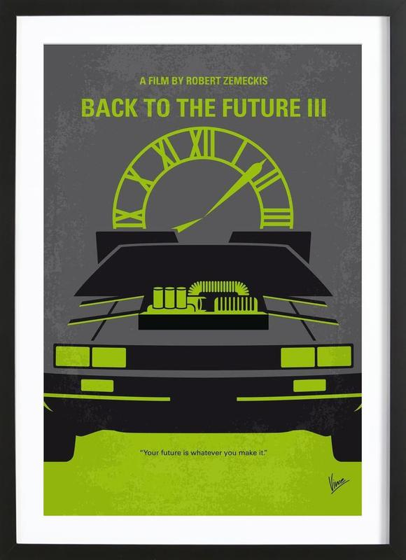 Back to the Future III as Poster in Wooden Frame by Chungkong | JUNIQE