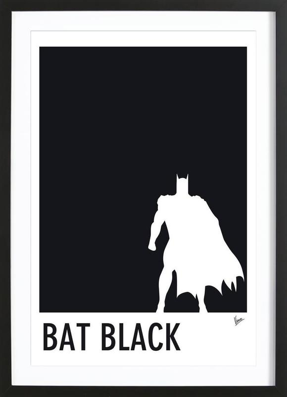 My superhero 02 bat black minimal poster als poster im for Minimal art kunstwerke