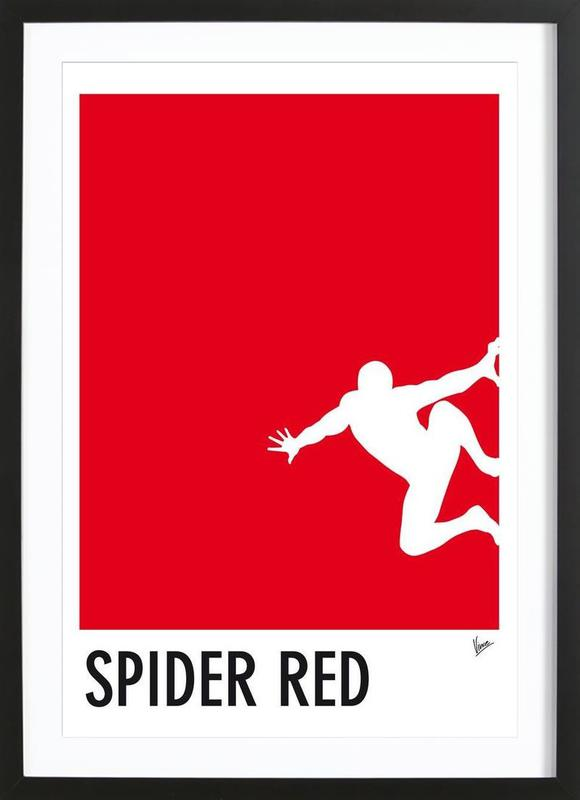 My superhero 04 spider red minimal poster als poster im for Minimal art kunstwerke