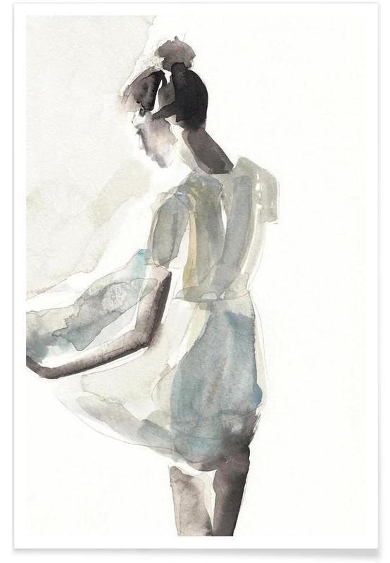 Watercolour Girl Poster Juniqe
