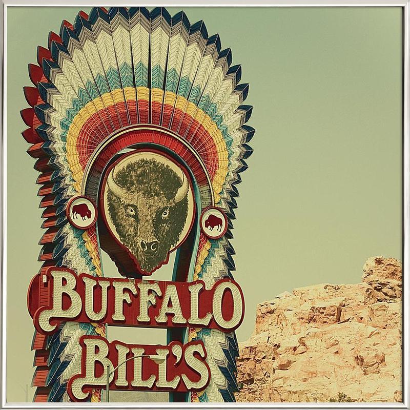Buffalo Bills Square as Poster in Aluminium Frame | JUNIQE