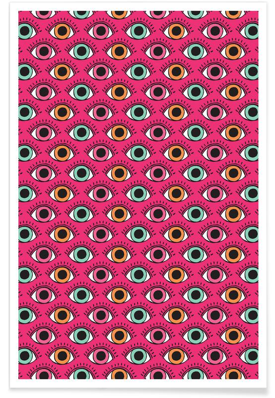 Eye freak en affiche premium par matthew taylor wilson juniqe - Frigo encastrable 54 x 122 ...