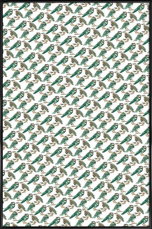 Retro Birds as Poster in Standard Frame by Pom Graphic Design   JUNIQE