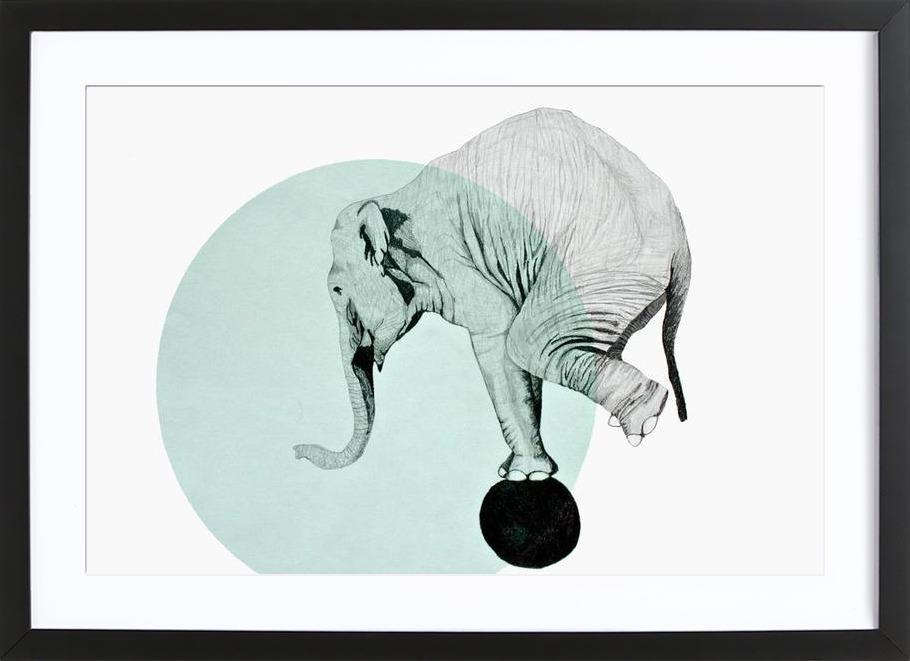 elephant en affiche sous cadre en bois par morgan kendall juniqe - Cadre Elephant
