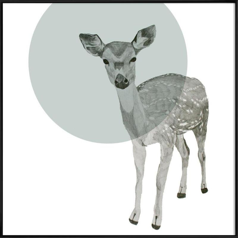 Deer as Poster in Standard Frame by Morgan Kendall | JUNIQE