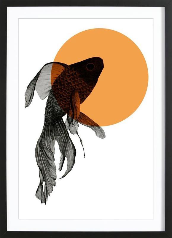 goldfish als poster im holzrahmen von morgan kendall juniqe. Black Bedroom Furniture Sets. Home Design Ideas