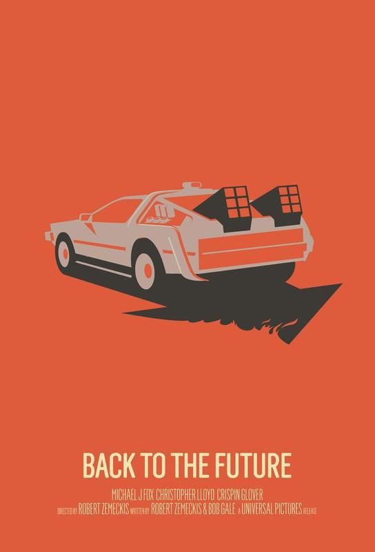 Back To The Future 2 As Aluminium Print By Bruno Morphet