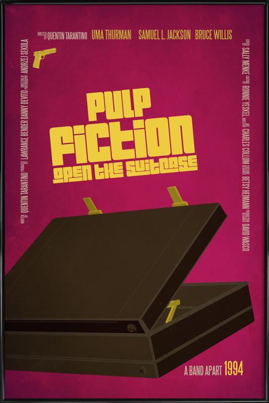 pulp fiction als poster im kunststoffrahmen juniqe. Black Bedroom Furniture Sets. Home Design Ideas