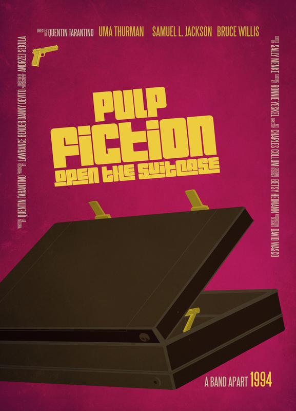 Pulp Fiction 1994 Stretched Movie Poster Canvas Wall Art Film Print Uma Thurman