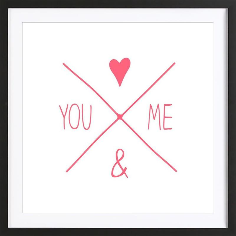 You And Me As Poster In Wooden Frame By Jaysan Studio Juniqe