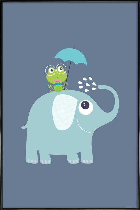 Elephant Frog as Poster in Standard Frame by JaySan Studio | JUNIQE
