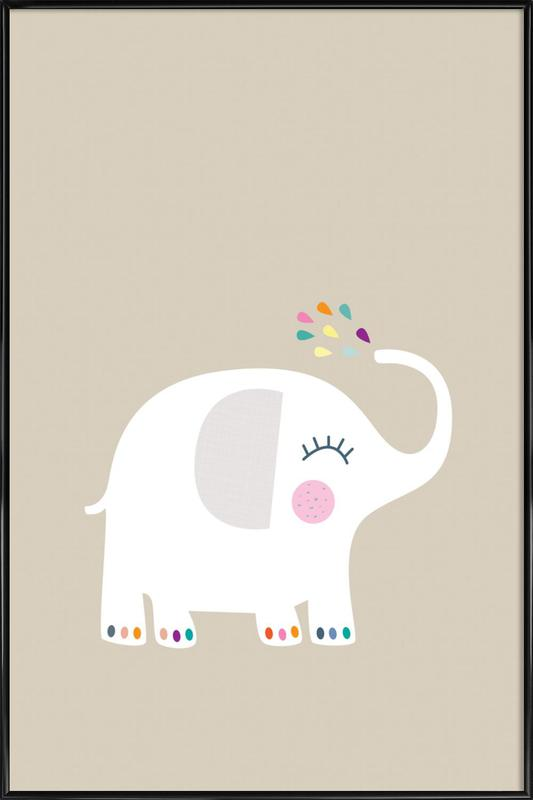 Elephant Rainbow as Poster in Standard Frame by JaySan Studio | JUNIQE