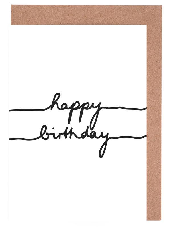 Happy Birthday As Greeting Card Set By Mareike Bhmer Juniqe