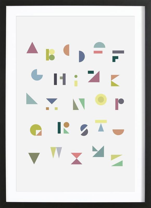 ABC colorful as Poster in Wooden Frame by Mareike Böhmer | JUNIQE