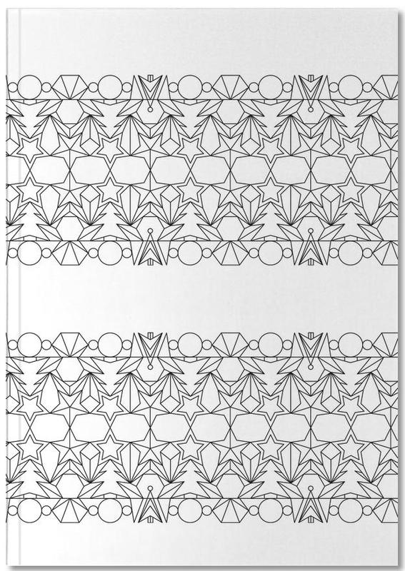 outline weiss as premium notebook by mareike böhmer juniqe