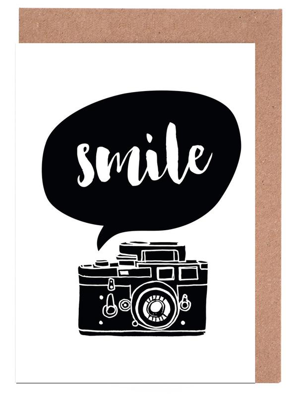 Smile as greeting card set by the motivated type juniqe home stationery greeting cards m4hsunfo