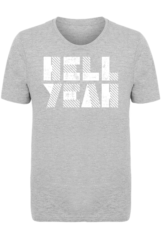 hell yeah as men 39 s t shirt by the motivated type juniqe. Black Bedroom Furniture Sets. Home Design Ideas