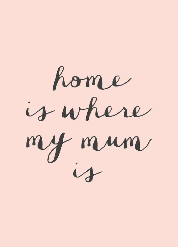 home is where my mum is as canvas print by the motivated type juniqe