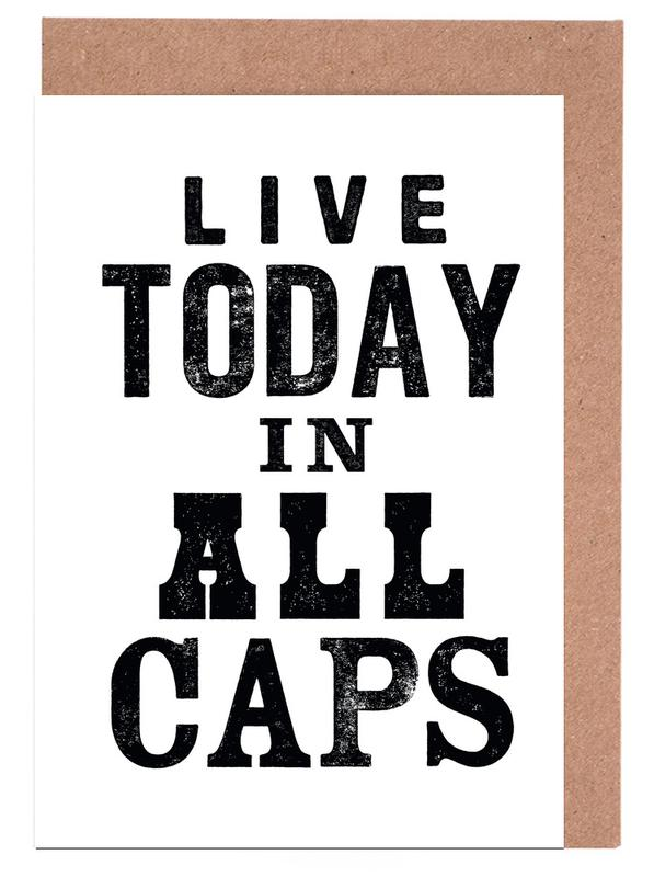 Live today as greeting card set by the motivated type juniqe m4hsunfo