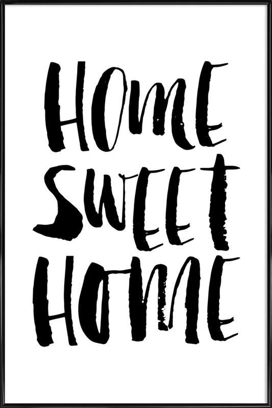 Home Sweet Home Poster In Standard Frame Juniqe Uk