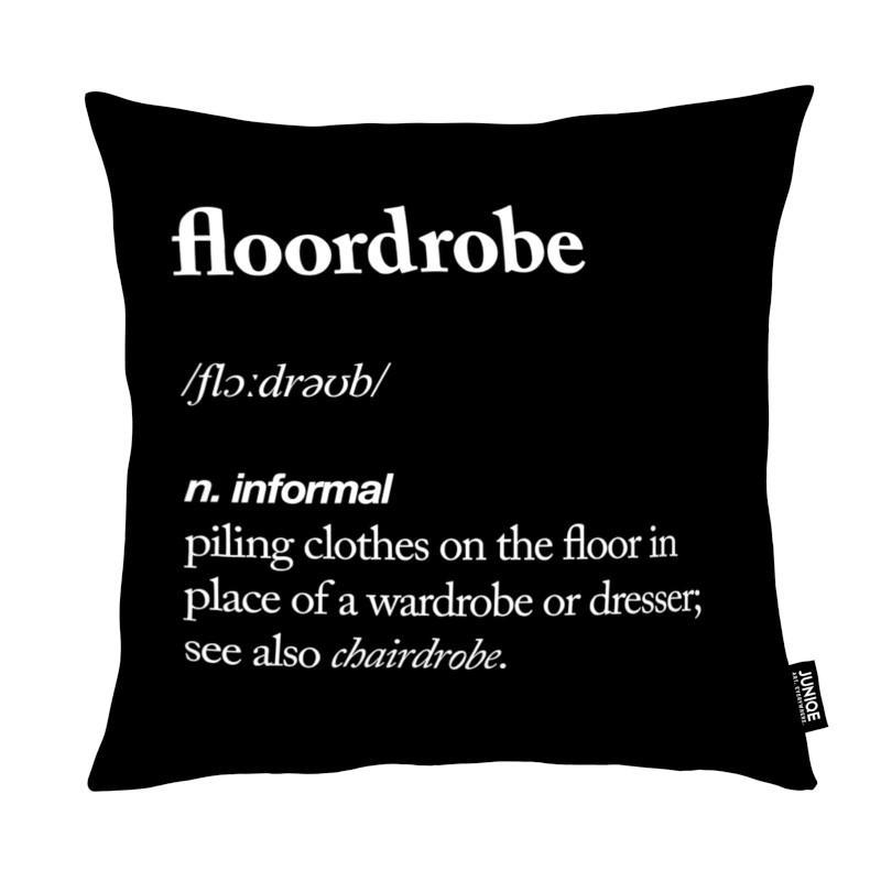floordrobe als kissen von the motivated type juniqe. Black Bedroom Furniture Sets. Home Design Ideas