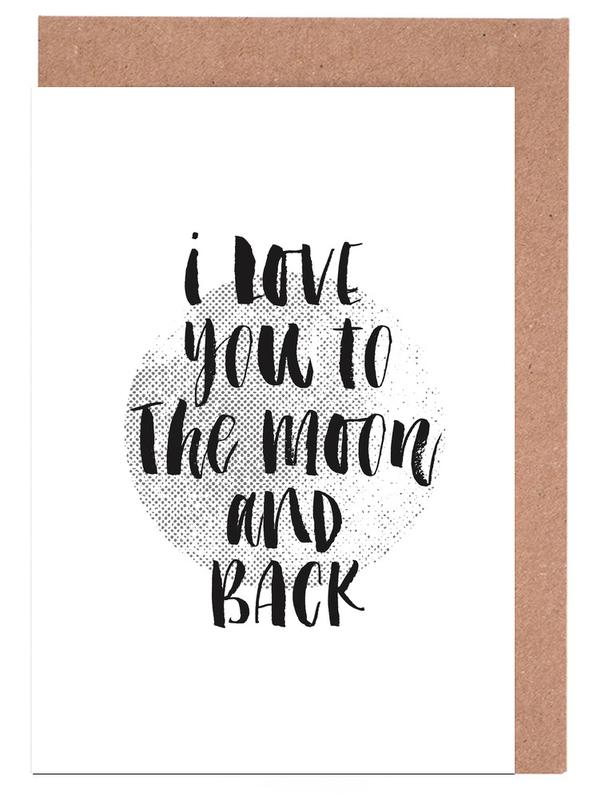 I love you to the moon and back as greeting card set juniqe m4hsunfo