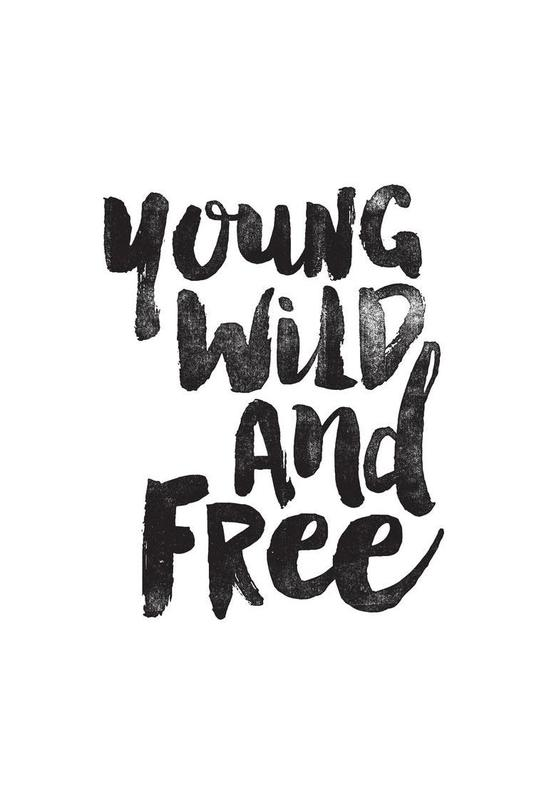 young wild and free as aluminium print by the motivated type juniqe