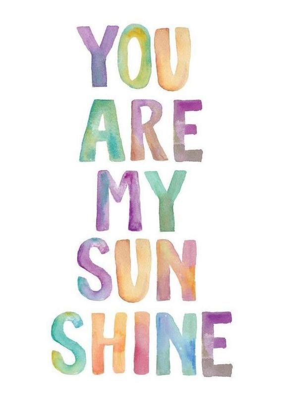You Are My Sunshine Als Canvas Print Door The Motivated Type Juniqe