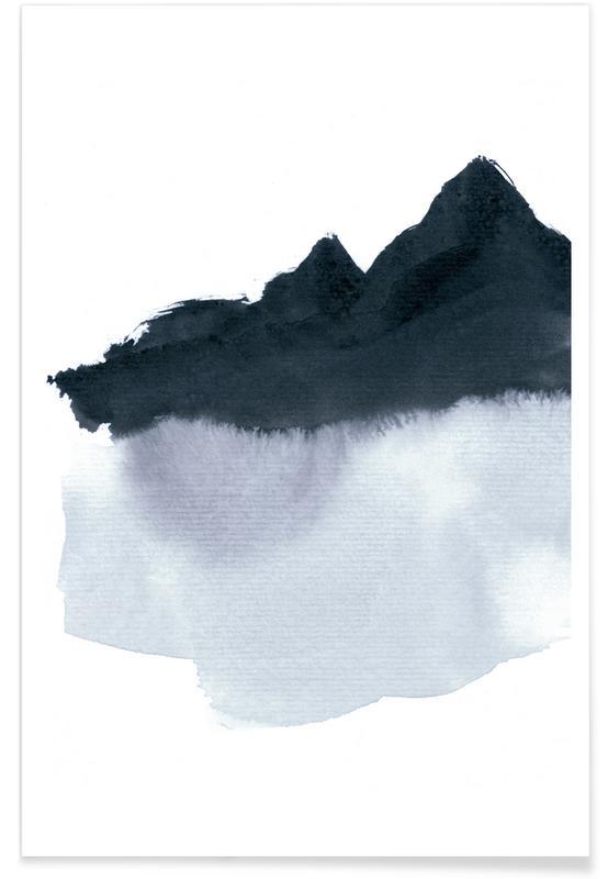 Mountainscape minimal als premium poster von iris for Minimal art kunstwerke