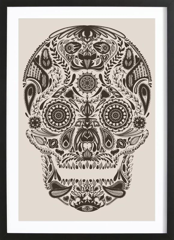 Dia De Los Muertos As Poster In Wooden Frame By Tobe Fonseca Juniqe Uk