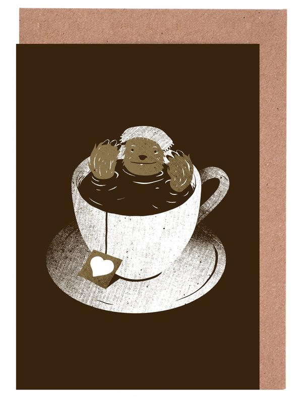 Monday bath sloth coffee as greeting card set by tobe fonseca home stationery greeting cards m4hsunfo