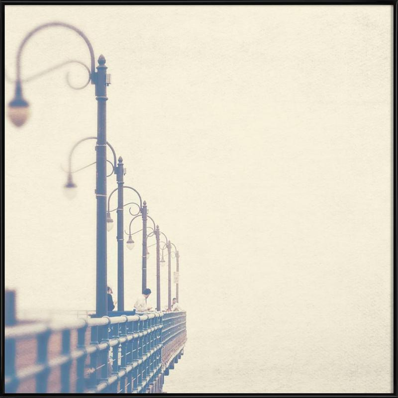 Meet me at the pier no. 1 as Poster in Standard Frame | JUNIQE